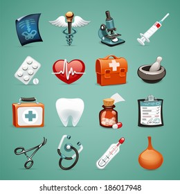 Medical Icons Set1.1 In the EPS file, each element is grouped separately.