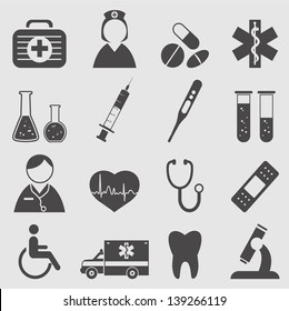 Medical Icons set.Vector