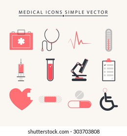 Medical icons simple vector