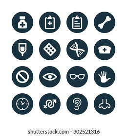 Medical icons universal set for web and mobile