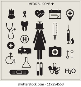 Medical icons vector illustration