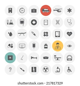 Medical icons. Vector Illustration.
