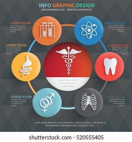 Medical info graphic design on clean background,vector