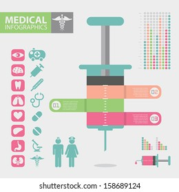 Medical infographic elements, Eps 10 vector design