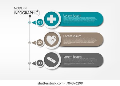 Medical information display Process chart Abstract element of the diagram diagram with step, option, section or process Vector business template for presentation Creative concept for infographic