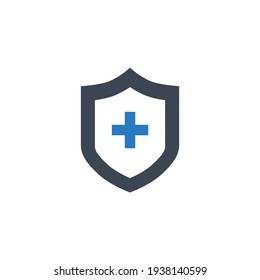 Medical Insurance Glyph Related Vector Icon. Flat Icon Isolated on the White Background. Editable EPS file. Vector illustration.