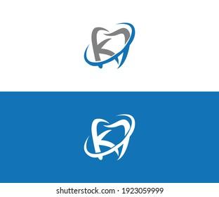 medical k dental logo icon vector template