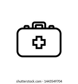 Medical Kit Icon Vector Logo Template