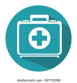 medical kit isolated icon