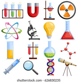Medical and laboratory science icon set. Vector illustration