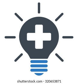 Medical Lamp vector icon. Style is bicolor flat symbol, smooth blue colors, rounded angles, white background.