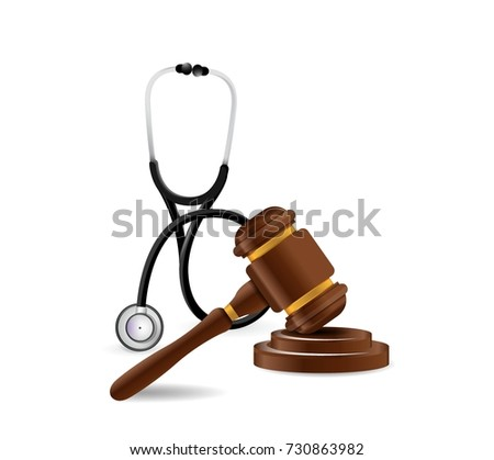 Medical law. Malpractice concept illustration design graphic isolated over white