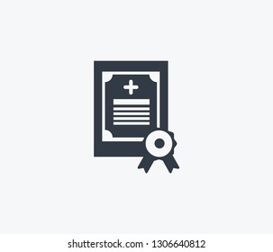Medical license icon isolated on clean background. Medical license icon concept drawing icon in modern style. Vector illustration for your web mobile logo app UI design.