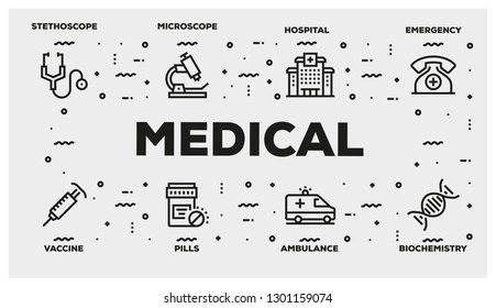 MEDICAL LINE ICON SET