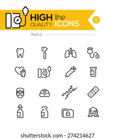 Medical line icons series