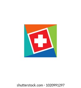 Medical logo design with cross icon
