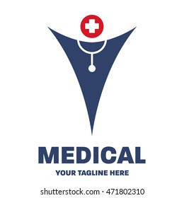 Medical logo design template