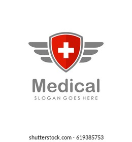 Medical logo and icon full vector