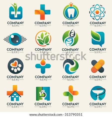 Medical Logo Icons Set Icons Medicine Stock Vector Royalty Free