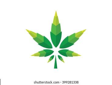 Medical marijuana cannabis vector flat