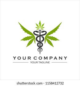 Medical Marijuana Logo Leaf template vector for therapy and healthcare