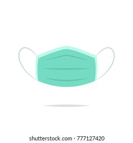 Medical mask icon vector