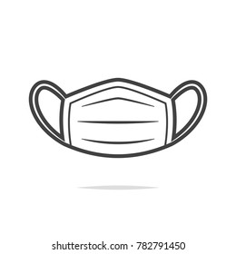 Medical mask icon vector transparent