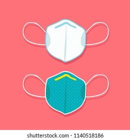 Medical mask vector icon, vector illustration.