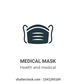 Medical mask vector icon on white background. Flat vector medical mask icon symbol sign from modern health and medical collection for mobile concept and web apps design.