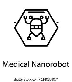 Medical nanorobot, nanotechnology bioengineering or advanced medical technology concept