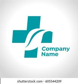 Medical and natural healing symbol. Health care / Medical and Pharmacy logo.