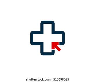 Medical Online Logo Design Template Element