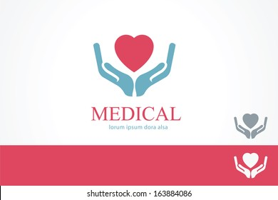 Medical pharmacy cross logo design template Medic cross icon with cardiogram Vector identity Editable