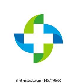 Medical Pharmacy Geometric Cross Business Company Vector Logo Design