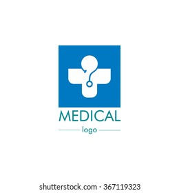 Medical pharmacy logo design template. Vector Illustration Medical center.