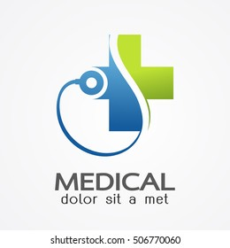 Medical pharmacy logo design template.- vector illustrator