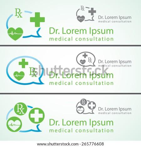 medical pharmacy logo design template medic stock vector royalty
