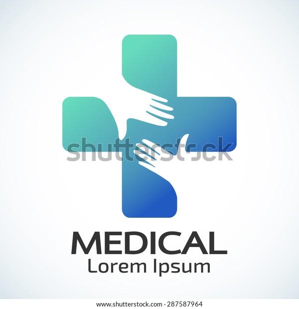 Medical pharmacy logo design template.- vector illustrator