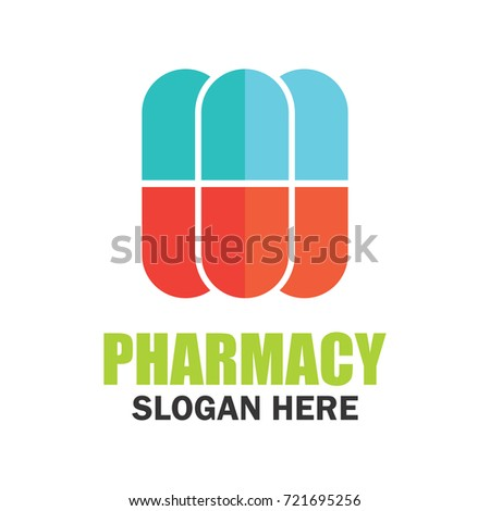 Medical Pharmacy Logo Emblem Insignia Text เวกเตอร์สต็อก (ปลอดค่า