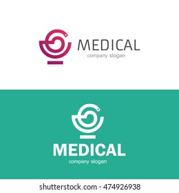 Medical pharmacy logo template. Vector illustrator