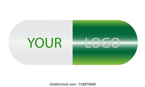 Medical pill logo vector template, tablet logo for a medical facility