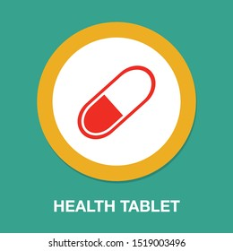 medical pills icon, medicine icon, health tablet, drug symbol