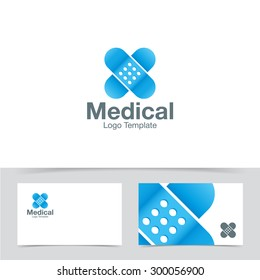 Medical plaster logo design template. Corporate branding identity