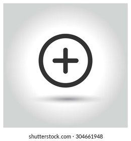 Medical Plus icon. concept web buttons. vector illustration. Flat design style