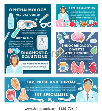 medical posters specialists ophthalmology endocrinology professional