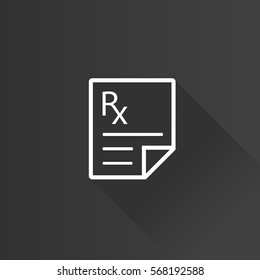 Medical prescription icon in Metro user interface color style. Medicine doctor healthcare