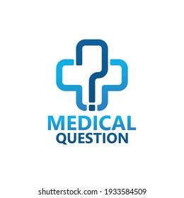 Medical question logo template design
