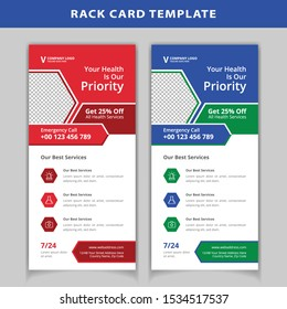 Medical rack card design template