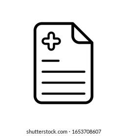 medical recipe icon design vector template