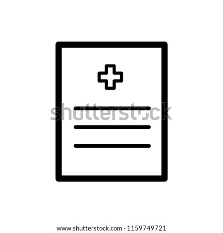 medical record icon vector template stock vector royalty free